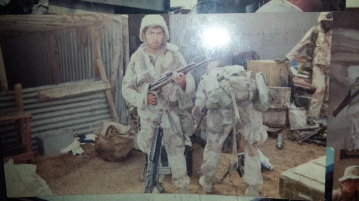 Ben in Combat Gulf War