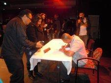 Ben Signing Barrio Bushido Books